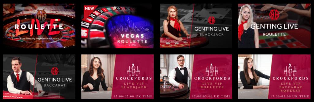 CrockFords Live Casino