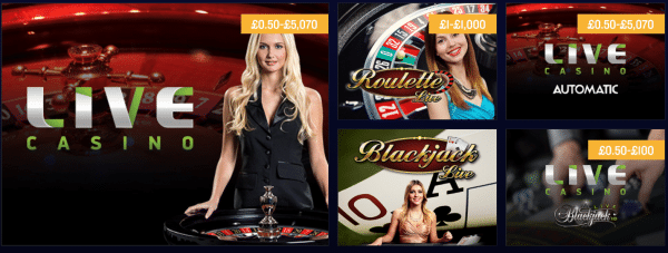 foxy live casino tables