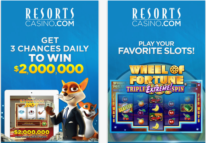 resorts mobile app slots