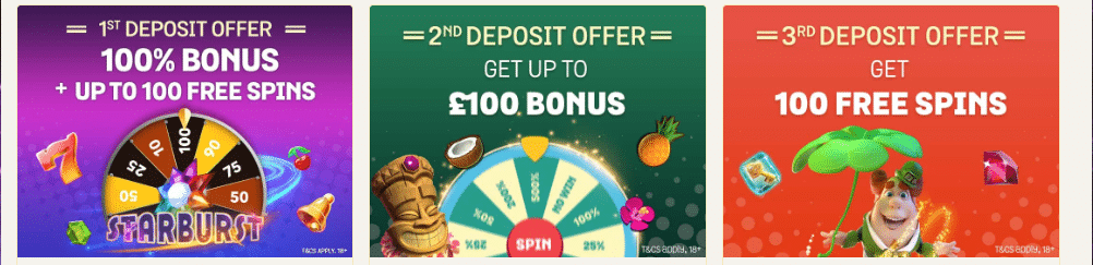Spin and Win Welcome Offers